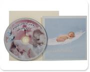כרטיס ברכה להולדת תינוק עם דיסק מוסיקה קלאסית